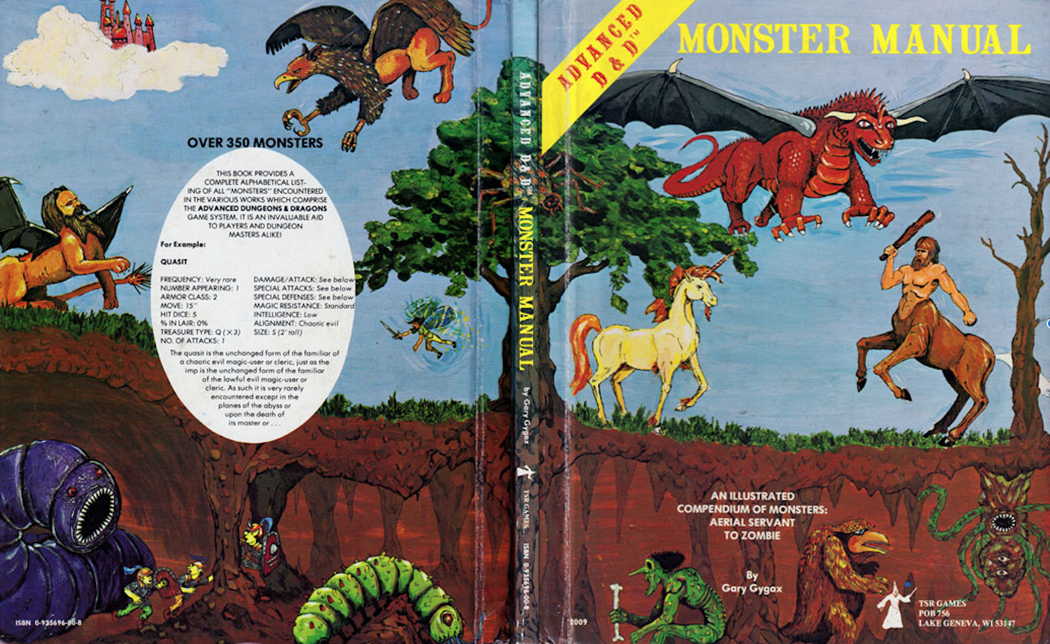 Advanced dungeons and dragons monster manual: gary gygax.